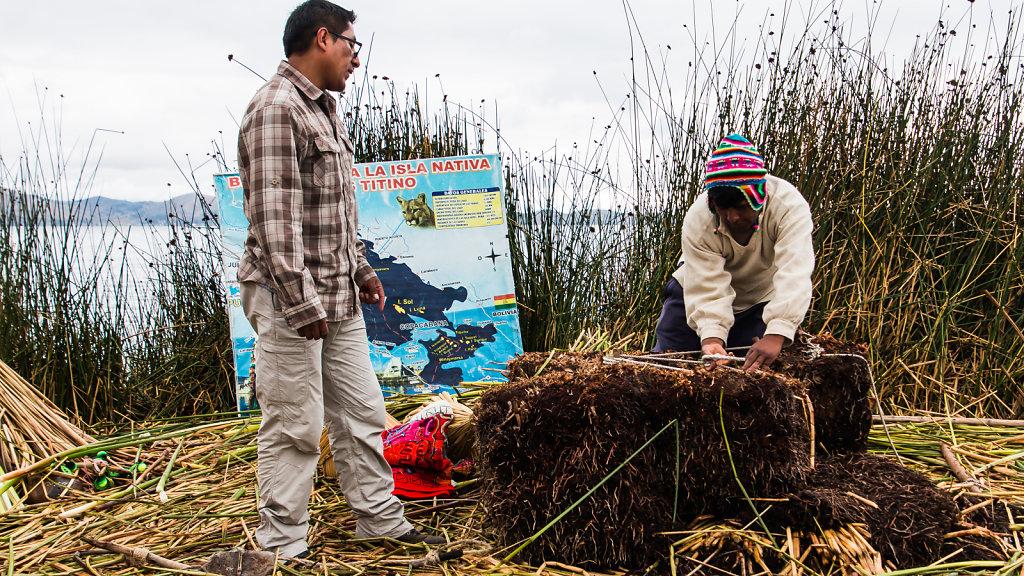 Islas Uros, Titikaka-See, Puno, Peru, 2015