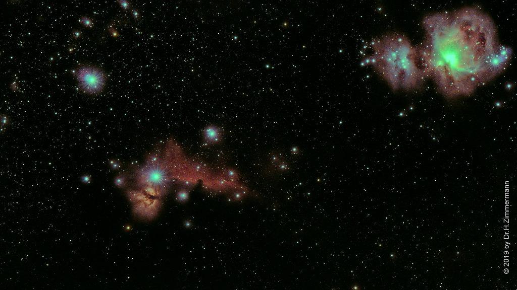 Orion Nebula, Horsehead Nebula